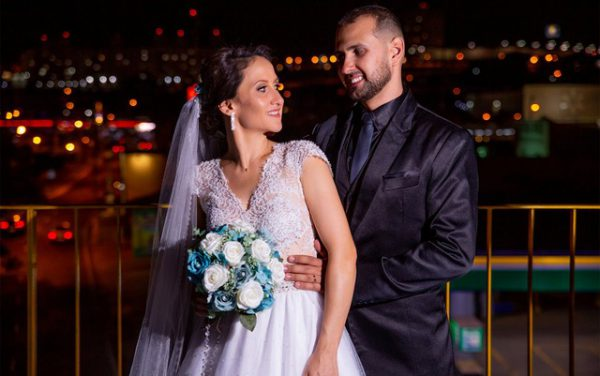 Os noivos Dayton e Simone - Foto: Renato Cunha