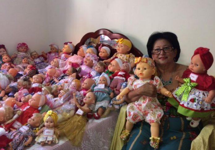 Foto: reprodução As 180 bonecas que vão para doação este ano Foto: reprodução