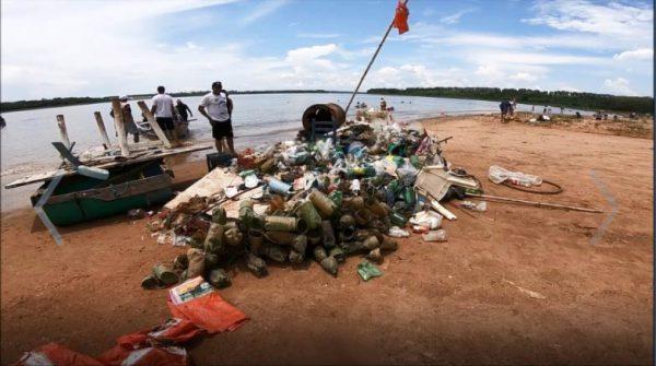 Lixo retirado do Tietê - Foto: divulgação