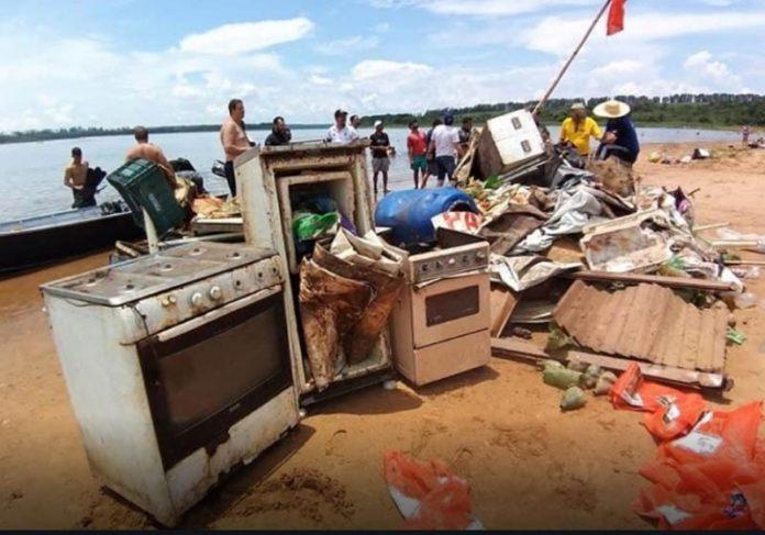 Lixo retirado do Tietê - Foto: divulgação|||