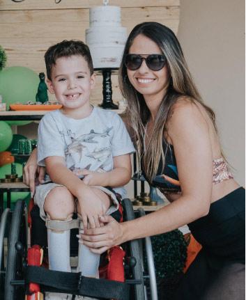 Miguel e a mãe - Foto: arquivo pessoal