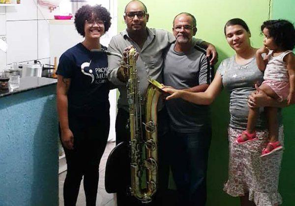 As famílias e o saxofone - Foto: arquivo pessoal