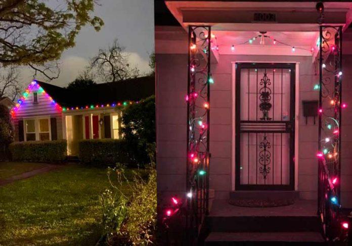 Luzes de Natal em março - Fotos: reprodução / Twitter