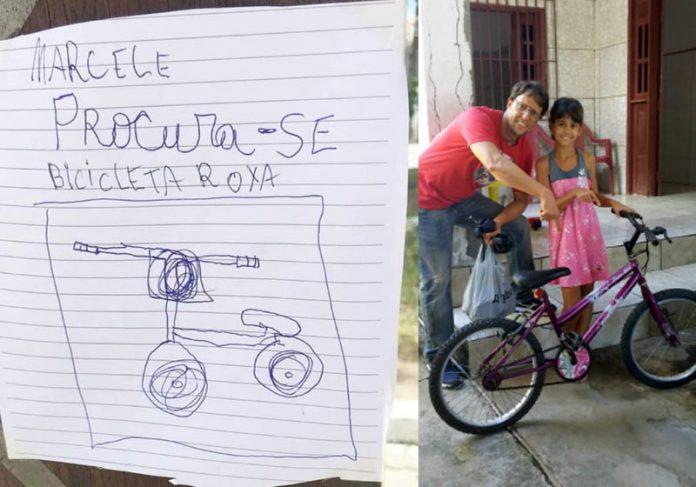 Fotos: reprodução / Ichubabr e arquivo pessoal Bilhete/cartaz feito pelas crianças - Foto: reprodução / Ichubabr  