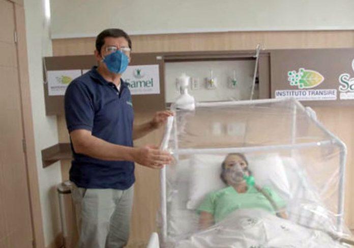 Filtro no alto retira o vírus do ar - Foto: Divulgação / Samel