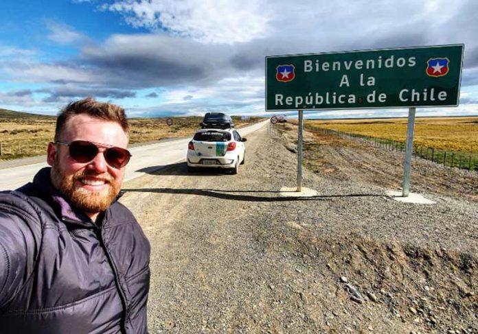 O brasileiro Gustavo Blume na chegada ao Chile - Foto: arquivo pessoal     