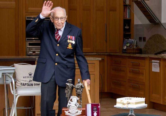 Tom Moore no 100º aniversário - Foto: UK Ministry of Defence/Crown/Reuters