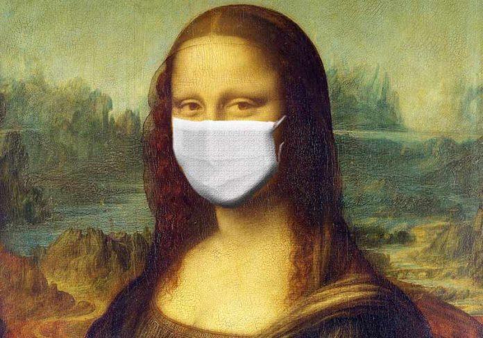 Monalisa de máscara - Arte: Sumanley xulx /Pixabay|
