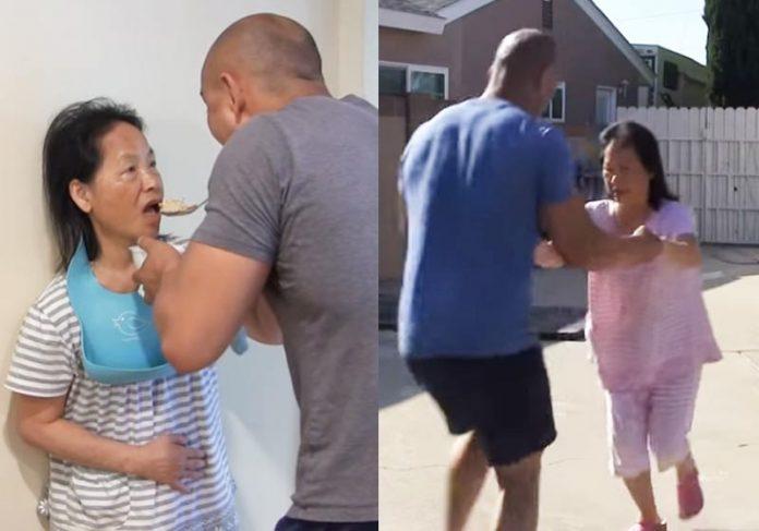 Frank estimulando a mãe - Fotos: reprodução / Youtube