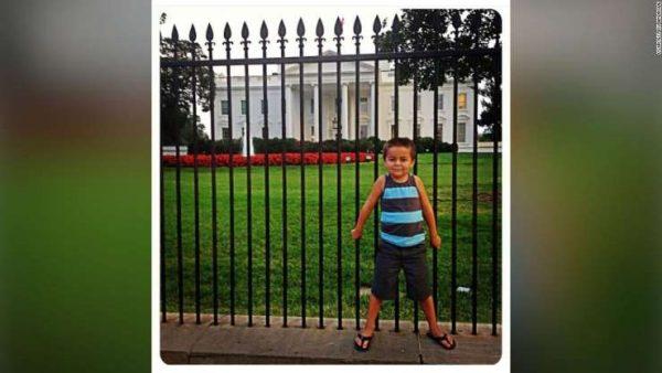 Rico na Casa Branca aos 4 anos de idade - Foto: arquivo pessoal / Ru Andrade