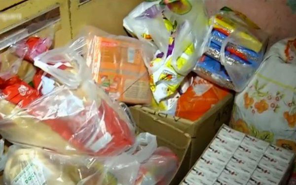 Alimentos recebidos - Foto: Reprodução/TV Anhanguera