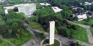 Vista aérea da USP - Foto: George Campos/USP Imagens