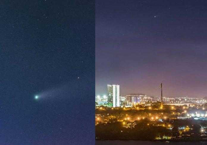 Cometa cruzando céu de Brasília - Foto: Leo Caldas