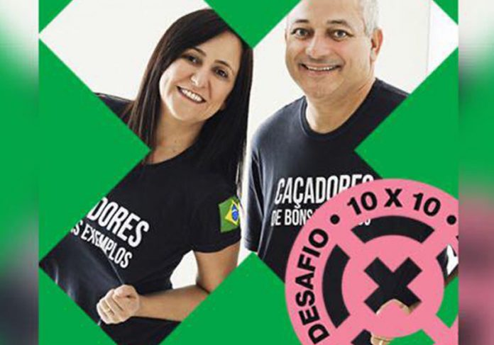 Iara e Eduardo no Desafio 10x10 - Foto: reprodução