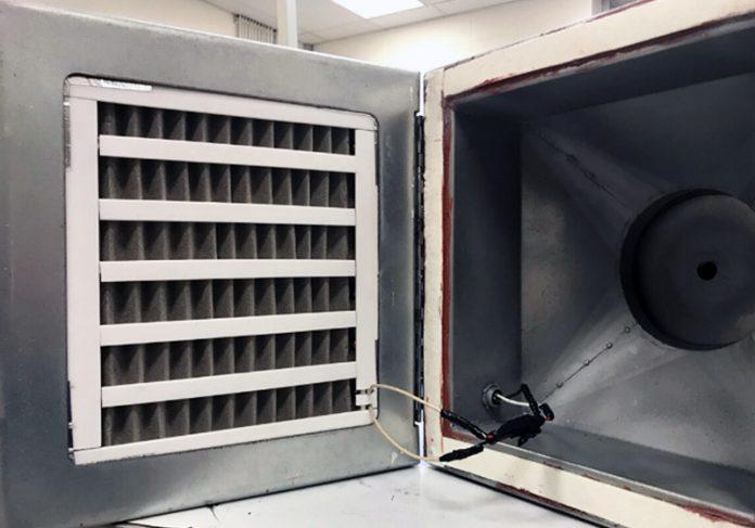Protótipo do filtro de ar contra Covid - Foto: Universidade de Houston