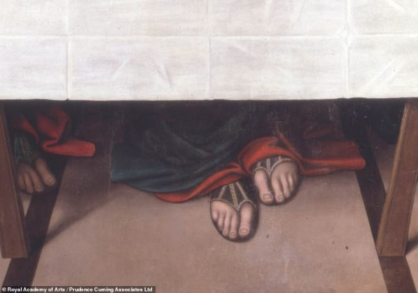Detalhe dos pés de Jesus - Foto: reprodução Google/MRA