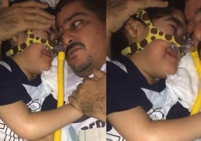 Samuca se emociona ao rever o pai - Fotos: Instagram