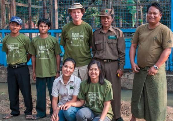 Equipe de conservação de tartarugas da WCS Mianmar Foto: WCS