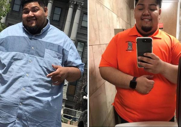 Gus Pena, do Texas, perdeu mais de 45 quilos.