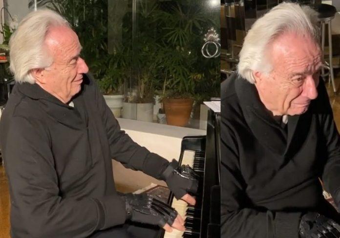 Maestro João Carlos Martins tocando Bach - Foto: reprodução / Instagram