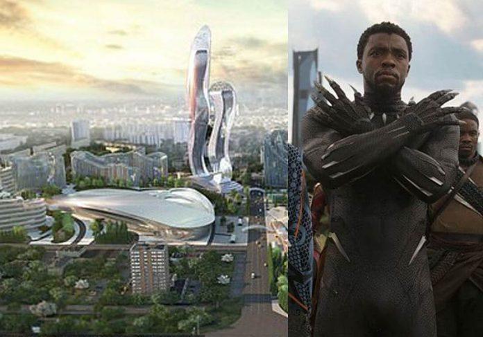 Wakanda Akon City e Pantera Negra - Fotos: Hussein Bakri/BAD Consultant/SemerGroup / divulgação
