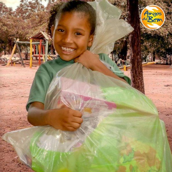 Criança atendida pelo projeto - Foto: divulgação