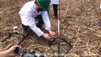 Lançamento do minifoguete - Foto: Colégio Agrícola Adroaldo Augusto Colombo