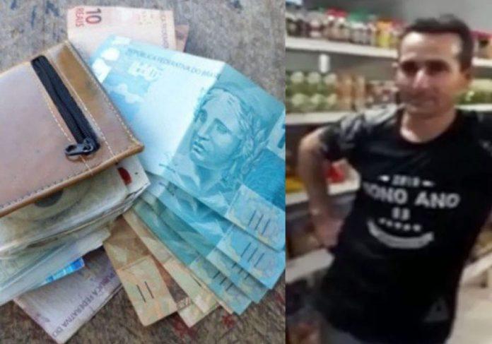 A carteira, o dinheiro e Odair - Fotos: Arquivo pessoal/ Anízio de Faria