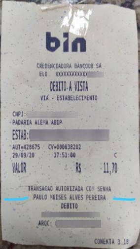 ticket com o valor errado - Foto: Alysson Braz Lopes