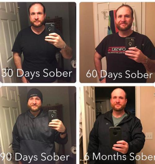 Primeiros 6 meses sem álcool - Fotos: Instagram