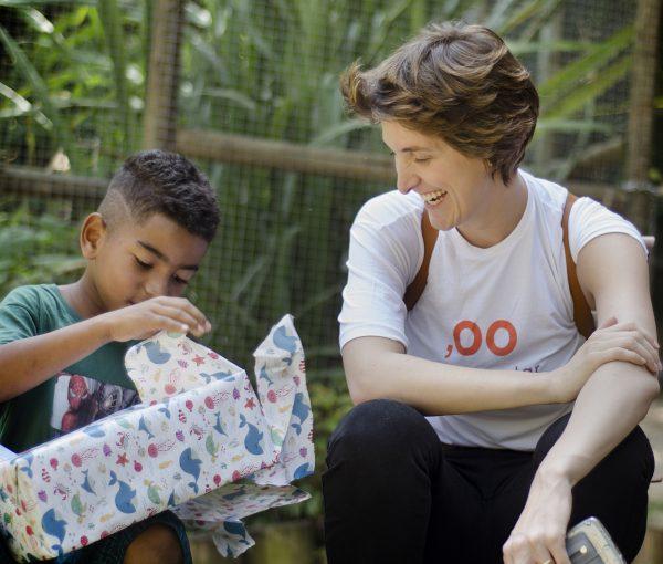 Uma das crianças beneficiadas pelo projeto - Foto: divulgação
