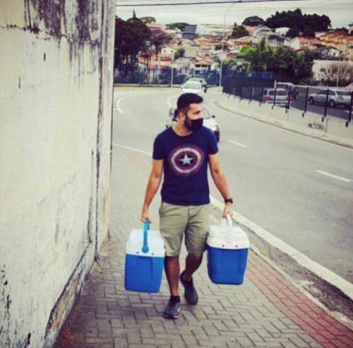 Fernando nas ruas de SJC - Foto: arquivo pessoal
