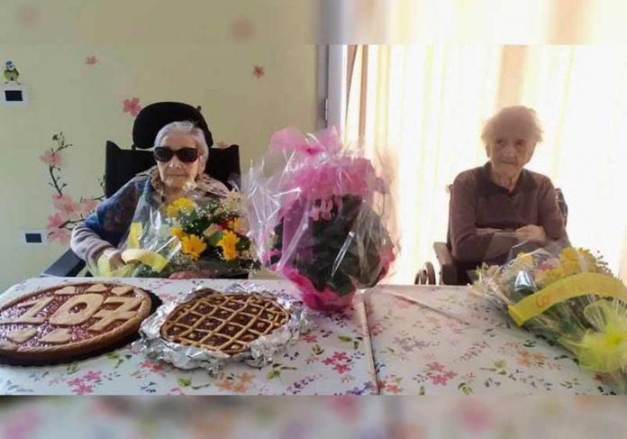 Pierina e Vittoria no aniversário - Foto: Insieme per Alta Valle Intelvi
