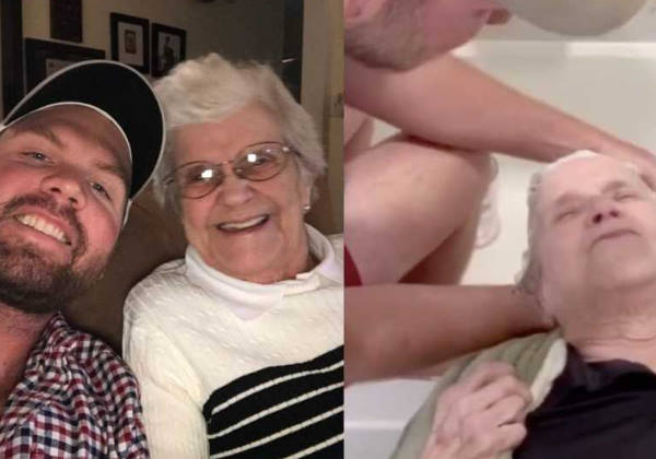 O dia de spa em que Matt lavou o cabelo da vó Fotos: reprodução Instagram