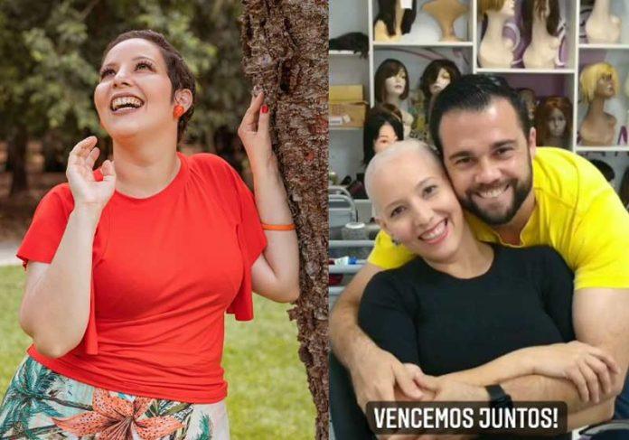 Priscila agora e antes, com o marido - Fotos: reprodução / Instagram