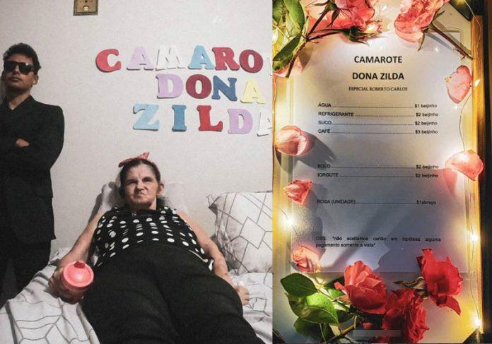 Matheus e dona Zilda no Camarote assistindo RC - Fotos: Instagram