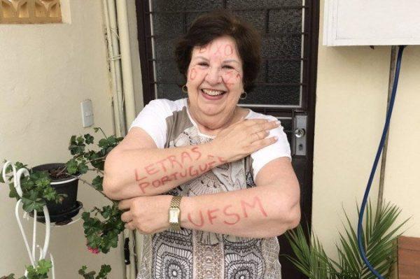 Edicleia Zanini, de 72, é caloura na UFSM - Foto: arquivo pessoal