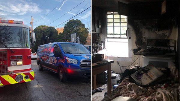 Bombeiros chegam no local do incêndio - Fotos: W-Underdogs