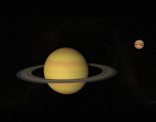 Júpiter e Saturno distantes - Foto: Jason Reed / Getty Images