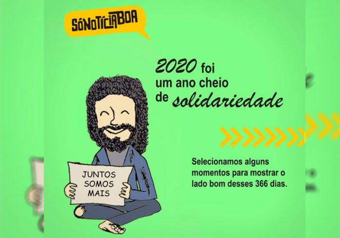 Lado Bom 2020 charges Solidariedade - Arte: Arisson/SNB