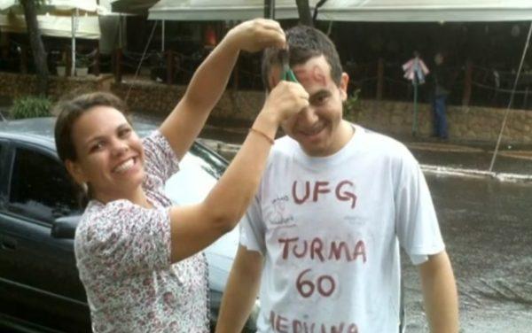 Wallace calouro na UFG - Reprodução/TV Anhanguera