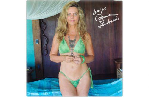 Bruna Lombardi aos 64 anos, em 2017 - Foto: Facebook