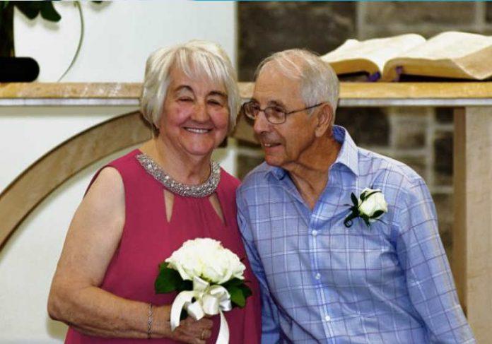 Fred Paul e Florence Harvey no dia do casamento Foto: Bob Schmutz