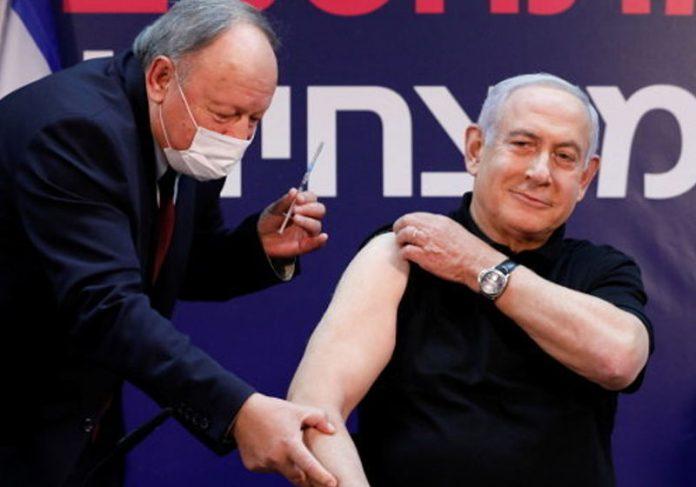 Benjamin Netanyahu abriu a vacinação em Israel - Foto: Amir Cohen /Reuters