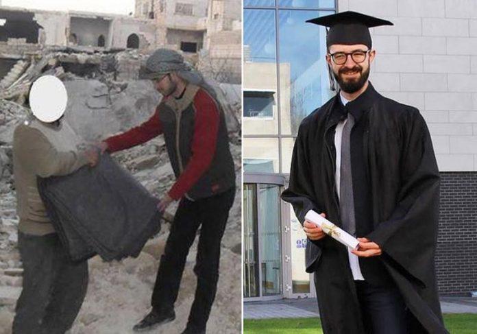 Osama antes e agora - Fotos: reprodução / LinkedIn