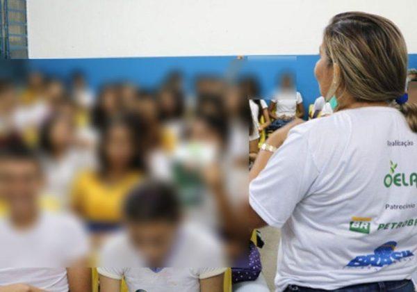Os rostos das crianças foram borrados para protegê-las - Foto: divulgação