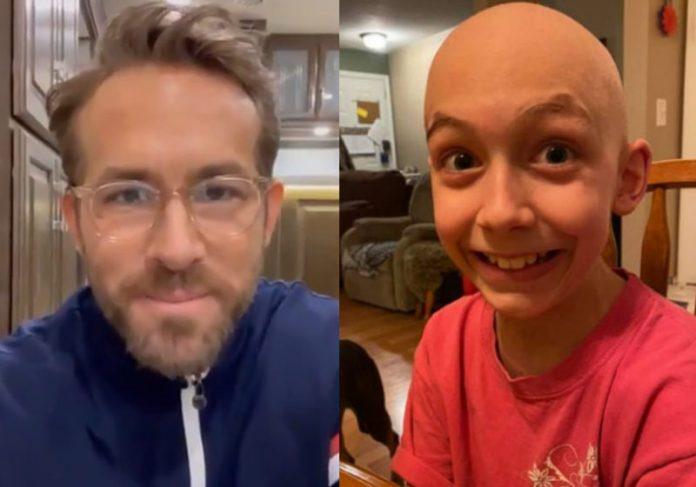 Ryan Reynolds e Brody - Fotos: reprodução / Twitter e CTVNews