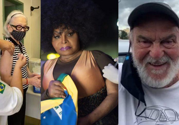 Fernanda, Elza e Lima comemoram vacinação - Fotos: reprodução / Instagram