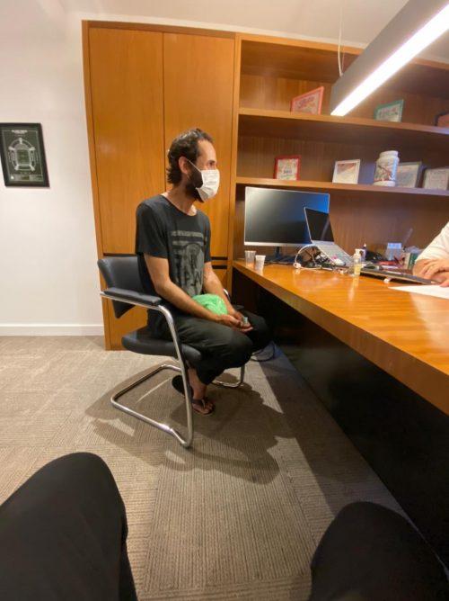 Alex quando chegou na empresa do Fábio - Foto: arquivo pessoal