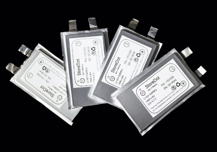 Baterias que carregam em 5 minutos - Foto: StoreDot